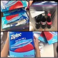 3中: Ziploc Gallon 特大密實袋 (1箱4盒)