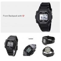 5底: Casio 黑色防水電子手錶 F108WH-1ACF