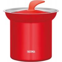 4底: Thermos 1L 真空不鏽鋼保溫鍋 紅色