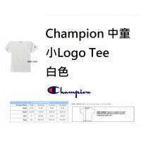 6中: Champion 中童小Logo Tee 白色