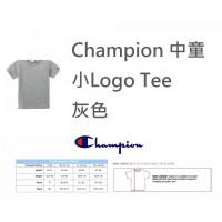 6中: Champion 中童小Logo Tee 灰色
