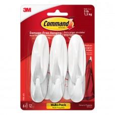 4中: 3M Command 無痕掛勾 (1套6個)