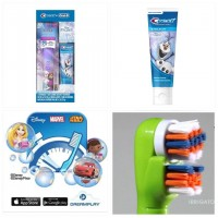 4底: Oral-B 魔雪奇緣電動牙刷+Crest牙膏套裝 (款式隨機)