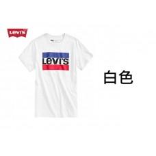 4底: Levi's 紅藍LOGO大人上衣 白色