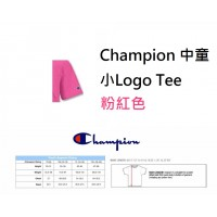 5底: Champion 中童小Logo Tee 粉紅色