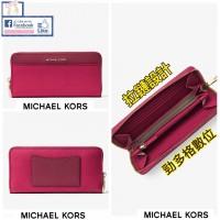 5中: Michael Kors 酒紅色拉鏈長銀包