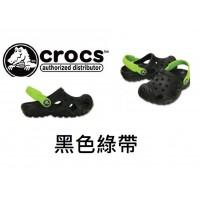 7底: Crocs 小朋友拖鞋 黑色綠帶