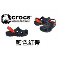 7底: Crocs 小朋友拖鞋 藍色紅帶