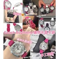 11中: Coach 女裝水晶錶面手錶 (粉紅色)