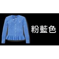12底: Ralph Lauren Polo 女童冷外套 粉藍色