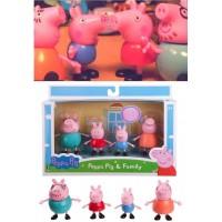 1中: Peppa Pig Family 粉紅豬公仔