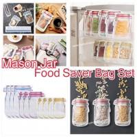 1中: Mason Jar 圖案食物儲存袋 (1套10個)