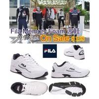 2中: FILA 男裝記憶綿鞋墊波鞋 (黑配白)