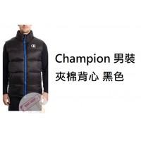 2底: Champion 男裝夾棉背心 黑色