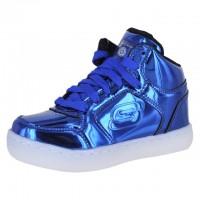 3中: Skechers 藍色閃光波鞋