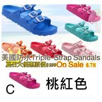 5底: Triple-Strap 超輕拖鞋 桃紅色