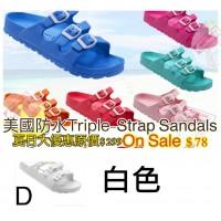 5底: Triple-Strap 超輕拖鞋 白色