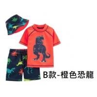 5底: Carters 1套3件泳衣套裝 B款-橙色恐龍