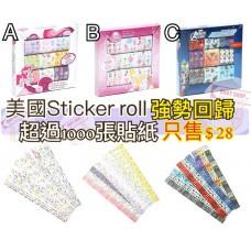 6中: Sticker Roll 100張盒裝貼紙