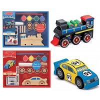 現貨: Melissa & Doug 木製玩具車手工藝 (款式隨機)