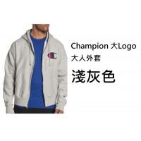 6底: Champion 大Logo大人外套 淺灰色