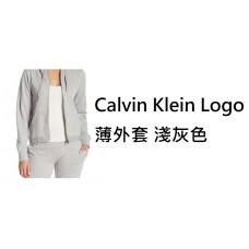6底: Calvin Klein Logo 薄外套 淺灰色