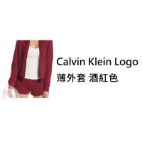 6底: Calvin Klein Logo 薄外套 酒紅色