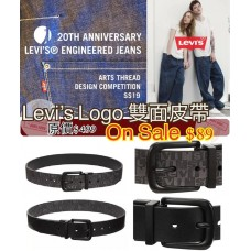 6底: Levis 雙面皮帶 (黑色)