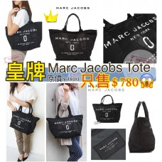 6中: Marc Jacobs Tote 黑色白字LOGO手袋