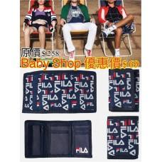 8中: FILA Logo款銀包