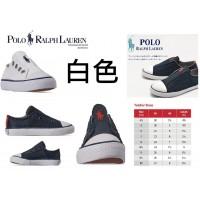 8底: Ralph Lauren Polo 經典小童鞋 白色