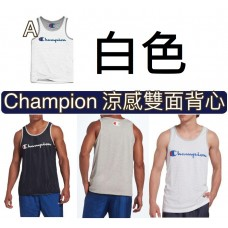 8底: Champion 涼感雙面背心 白色