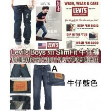9底: Levis 511 男仔牛仔直腳長褲 牛仔藍色