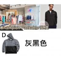 10底: Champion Packable 拼色風褸 D-灰黑色