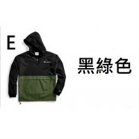 10底: Champion Packable 拼色風褸 E-黑綠色