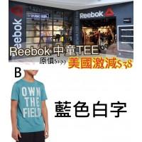9底: Reebok 中童短袖上衣 (藍色白字)