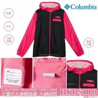 現貨: Columbia 女童防水連帽風樓 黑配紅 XXS