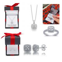 11中: Sterling Silver 925純銀鑽石方型首飾