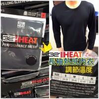 11中: 32 Heat Degrees 1套2件男裝熱感內衣 (黑色)