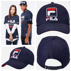 11中: FILA LOGO啪鈕款CAP帽 (深藍色)