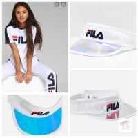 11中: FILA 高爾夫球空頂帽 (白色)