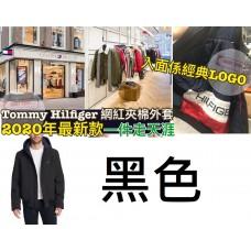 1中: Tommy Hilfiger 男裝夾棉有帽外套 黑色