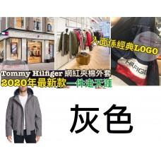 11底: Tommy Hilfiger 男裝夾棉有帽外套 灰色