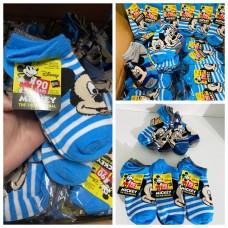 現貨: Mickey 米奇小童船襪 4-8T (1套5對)