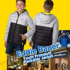 4中: Eddie Bauer 男童夾棉外套 (黑配灰色)