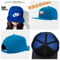 4底: Nike 淺藍色白配橙LOGO帽