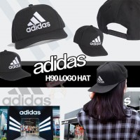 4中: Adidas 中童CAP帽 (黑色白LOGO)