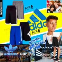 5底: Adidas 1套2條中童男仔運動短褲 (黑色+淺灰色)
