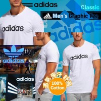 5底: Adidas 男裝上衣 (白色黑LOGO)