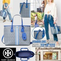 4底: Tory Burch TOP-ZIP 手提袋 (藍色)